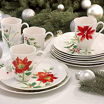 Lenox Winter Meadow 12 Piece Dinnerware Set & Amazon.com | Lenox Winter Meadow 12 Piece Dinnerware Set: Dinnerware ...