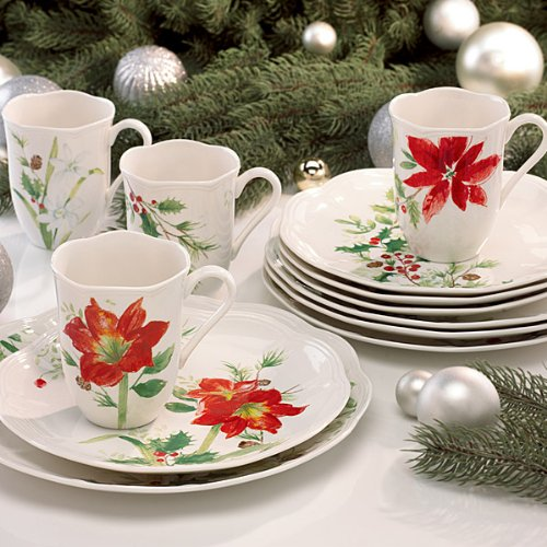 Christmas Tablescape Decor - Lenox Winter Meadow 12 Piece Dinnerware Set