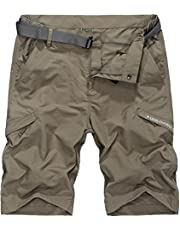 Vcansion Men's Outdoor Lightweight Hiking Shorts Quick Dry Shorts Sports Casual Shorts