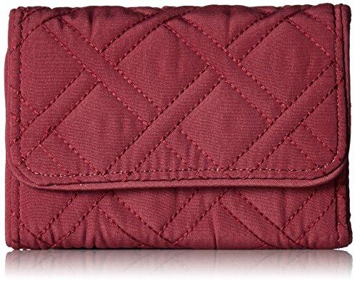 - Vera Bradley Women's RFID Riley Compact Wallet, Hawthorn Rose, One Size