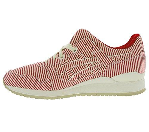 Asics - Zapatillas de tela para hombre rojo rojo Rojo