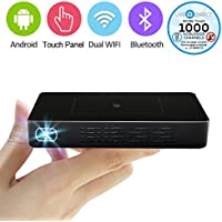 VENENO X9 Touch Panel Pico Projector Mini Android Smart Projector Slim Wireless Portable Pocket Projector Bulid-in Power Bank and LiveTV Services (Ultra - 32GB/HDMI-IN)