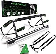 BODYROX Pull up bar Doorway Multi-Grip Chin up Bar | Door Way Home Gym Fitness | Elevated Design, Heavy Duty,