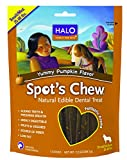 Halo Spot's Chew Holistic Dog Dental Treats - Yummy Pumpkin - 7.2 OZ of Dental Chews for Medium and Small Dogs - 7 Sticks of Natural Dog Treats
