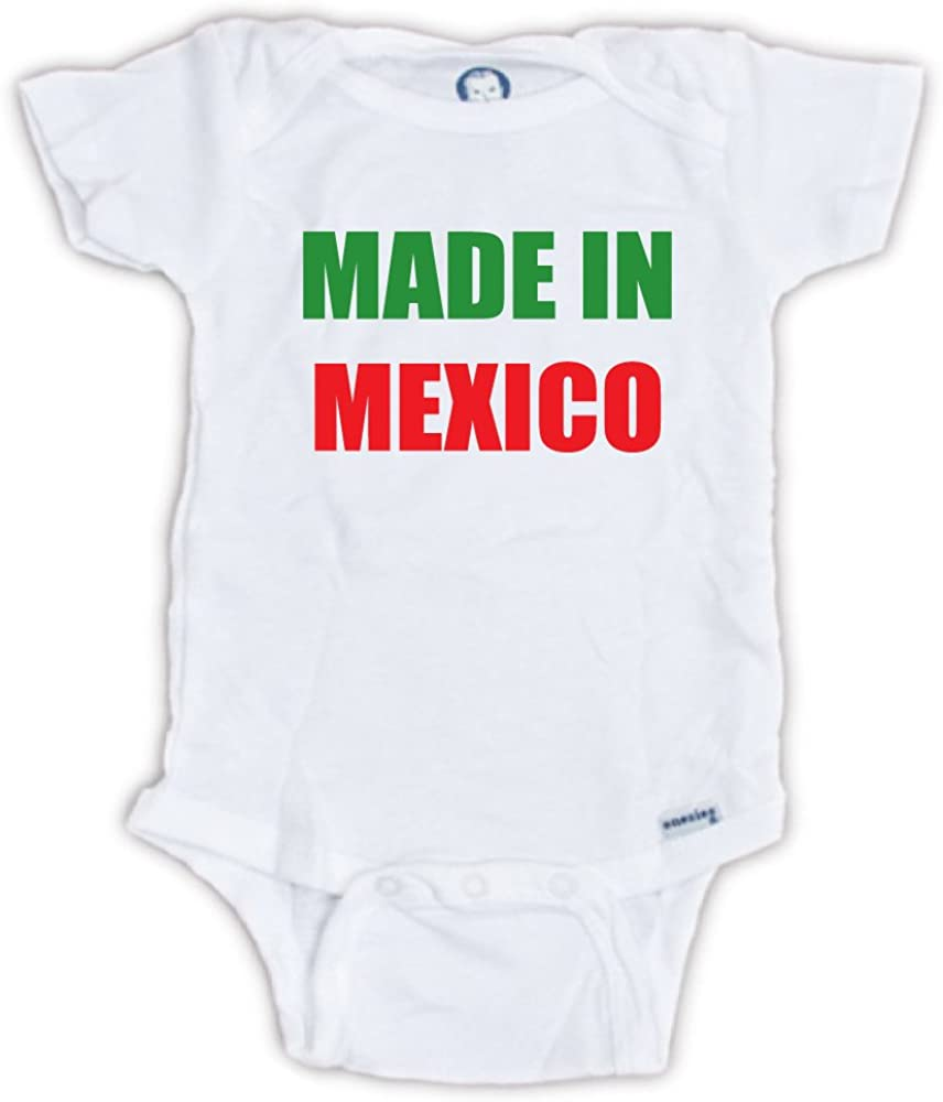 BLAKENREAG Made in Mexico Funny Baby Onesie Boutique Boy Girl Novelty Clothes