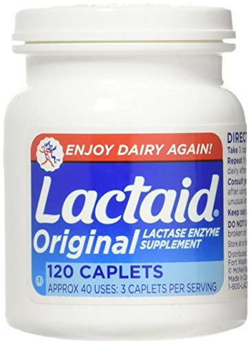 LACTAID Original Caplets 120 ea (Pack of...