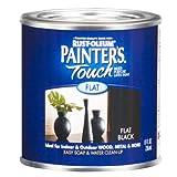 Rust-Oleum 1976730 Painters Touch Latex, Flat Black