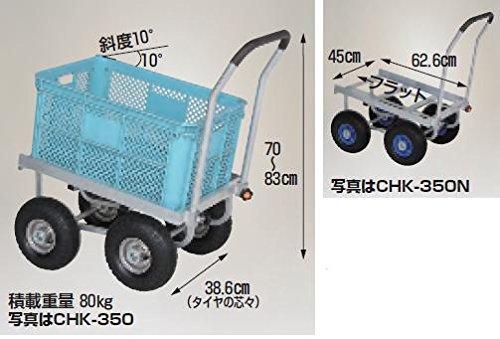 ハラックス (HARAX) 愛菜号 30kgコンテナ斜め置きタイプ CHK-350N ノーパンクタイヤ(3.50-4N) B01KN99L84
