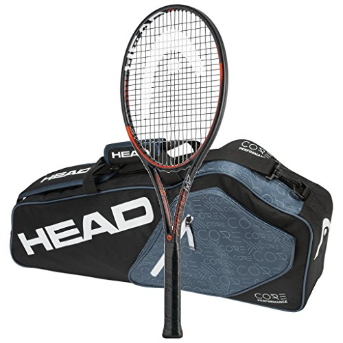 Head 2016-2018 Graphene XT Prestige MP - Strung with 3 Racquet Tennis Bag (4-1/2)