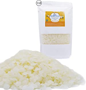 White Beeswax Pastilles, 5 Pounds Beeswax Pellets for Candle Making, DIY Projects