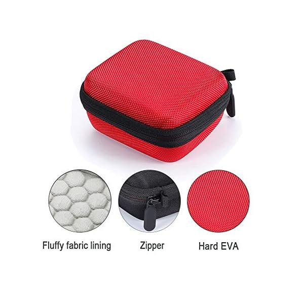 L3 Tech Etui pour JBL Go, Sacoche de Transport Rigide pour JBL GO, Haut-Parleur Bluetooth sans Fil (Boîtier Seulement, Haut-Parleur et Accessoires Non Inclus) - Rouge 4