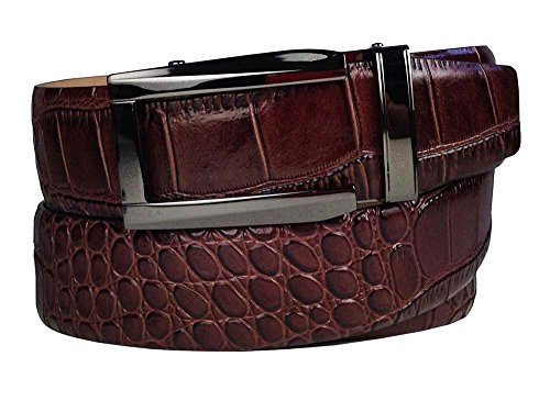 [Nexbelt Reptile Series Coffee Alligator Belt La Ventana Buckle Golf Adjustable] (Reptile Buckle Belt)