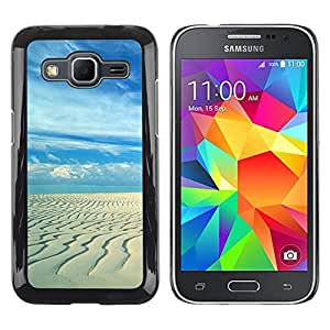 Paccase / SLIM PC / Aliminium Casa Carcasa Funda Case Cover - Sandy beach - Samsung Galaxy Core Prime SM-G360