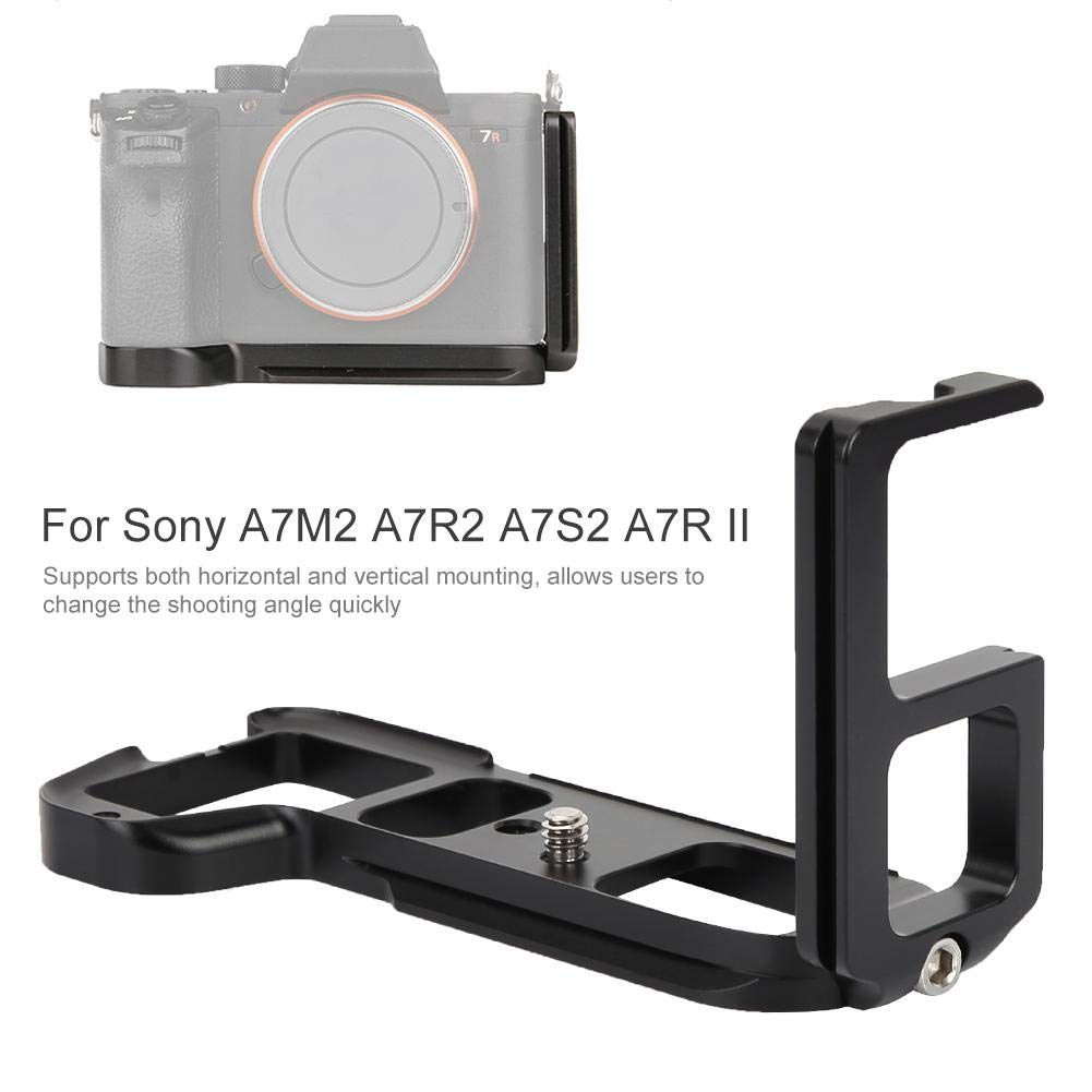 VBESTLIFE Piastra Rapida a Forma di L Fotocamera SLR Piastra Rapida Verticale a Forma di L Piastra a Sgancio Rapido PTZ per Sony A7M2 A7R2 A7S2 A7RII