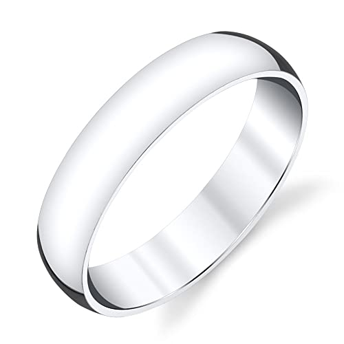 Sterling Silver Wedding Bands.5mm Plain Dome Sterling Silver Mens Wedding Band Comfort Fit Ring Sevb011
