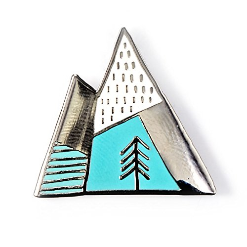 BADGE BOMB Geometric Mountains Enamel Pin