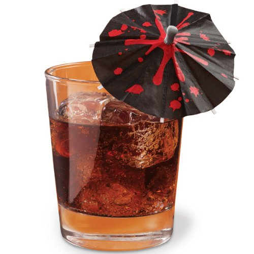 Halloween Blood Drips Drink Parasols 12 ct -