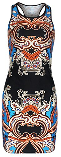 erdbeerloft - Damen Longtop Shirt Abstraktes Blumen Muster, M-L, Mehrfarbig