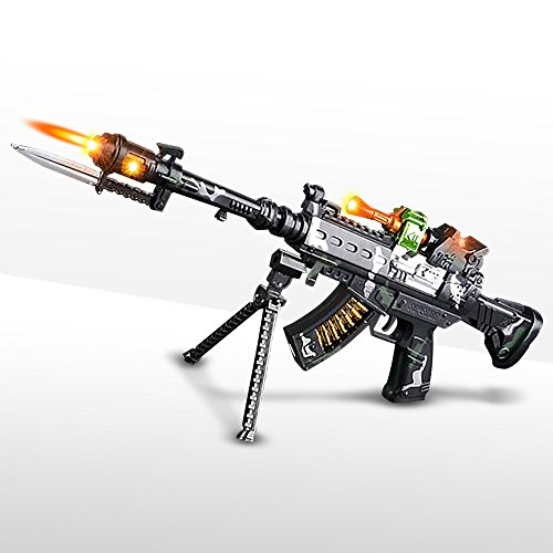ArtCreativity Special Forces Toy Machine Gun with LEDs, Sound & Bayonet | 22