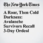 A Roar, Then Cold Darkness: Avalanche Survivors Recall 3-Day Ordeal | Elisabetta Povoledo