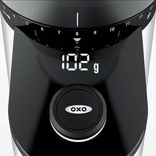 OXO Good Grips Conical Burr Grinder with Intelligent Dosing Scale (with 4oz Silver Canyon Coffee) by OXO (Image #3)