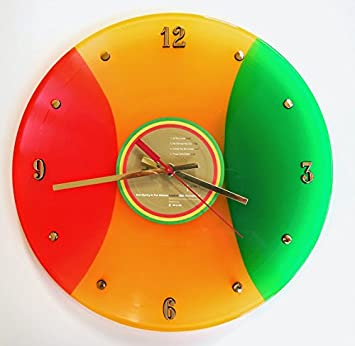 BOB MARLEY Rasta Colored Vinyl Record Clock Legend . 12 wall clock made with the original record and ready to hang.