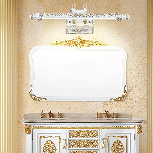 JIN European-Style Mirror Headlights Bathroom Bathroom Cabinet Cabinet Light Retro Dresser Waterproof Fog-Led American Mirror Headlights , Yellow Light by FBHVJ