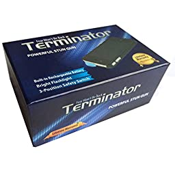 Terminator SGCPMC-90,000,000 V Smart Cell Phone Stun Gun - Heavy Duty Rechargeable With LED Flashlight (Black)