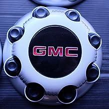 GMC HD 8 Lug Silver Painted Center Cap Hubcap Wheel Cover, 2000-2013 # 15006332 15052379 5195 5198 C5195 5198S Savana Sierra Yukon Van 2500 3500 Pickup Truck SRW