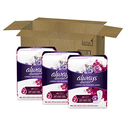 Always Discreet, Incontinence Liners, Very Light, Long Length, 44 Count - Pack of 3 (132 Total Count) by Always Discreet (Image #2)