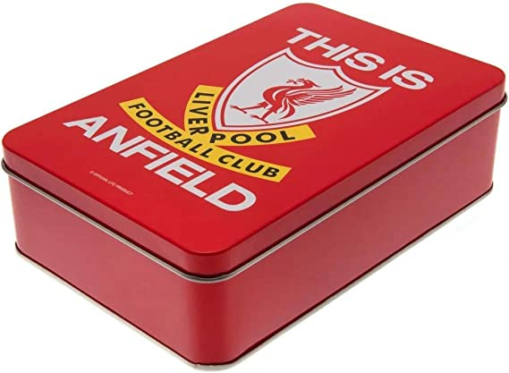 Liverpool Football Club Supporters Tin Team Official Gift Set Mens Xmas