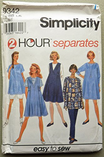 Simplicity 9342 Sewing Pattern, Maternity Separates, Size BB (L,XL) ()