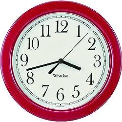 Westclox 9.5 Red Decorative Wall Clock