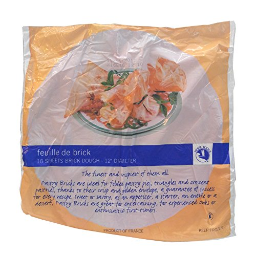 Feuille De Brick Pastry, 12'' Diameter - 10 Sheet (Pack of 25), Avg 10 Lb Case by White Toque