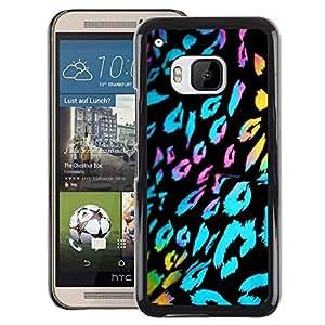 Red-Dwarf Colour Printing Ultraviolet Fur Leopard Pattern Black Blue - cáscara Funda Case Caso de plástico para HTC One M9