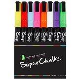 3mm Fine Tip - SuperChalks Color Liquid Chalk Marker Pens 8-Pack - ONLY SUITABLE FOR NON POROUS SURFACES