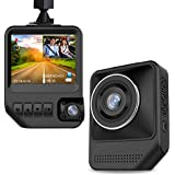 Dash Cam Dual Cameras for Cars, 2.3 LCD HD 1080P Car Camera with Night Vision Dashboard Camera Recorder Front and Rear with 170° Wide Angle, G-Sensor, Loop Recording, WDR, Parking Mode