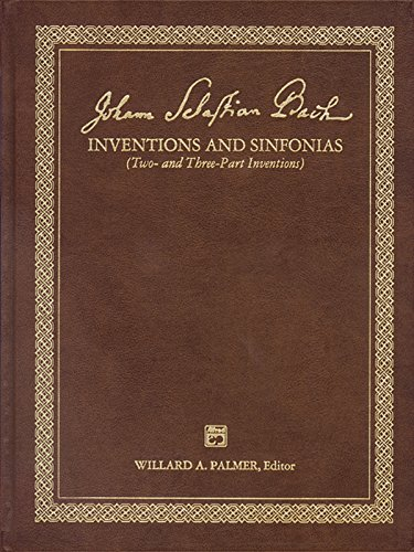 Bach -- 2 & 3 Part Inventions: Leather Bound Book (Alfred Masterwork Edition) by Brand: Alfred Music