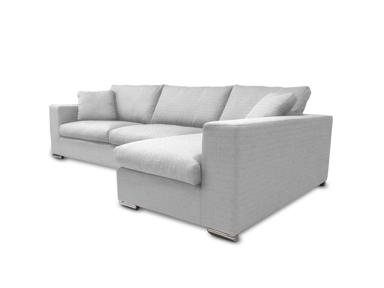 KMP Furniture Coleen Sectional Sofa & Right Chaise Lounge - White - Highly detailed upholstery and precisely stitched. Fade resistant fabric. High-density resiliency foam seats and back with sturdy spring system. - sofas-couches, living-room-furniture, living-room - 51qeXV3ILnL -