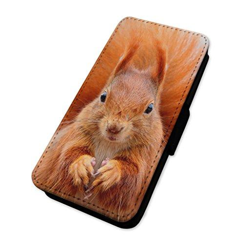 Adorabile scoiattolo rosso–Custodia ad aletta in pelle copertura di carta Apple Iphone 7