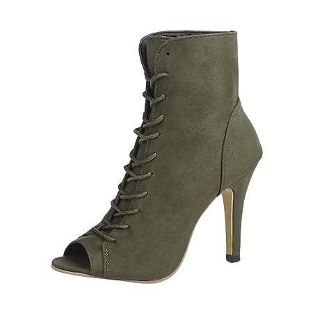 Fenverk_Schuhe - Botas para Mujer Verde 43 EU: Amazon.es: Hogar