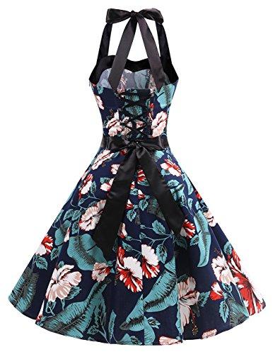 Dresstells Hepburn Pois A Vintage Fleur up Version3 Soirée Halter Marine Années De À Audrey Pin Robe 50 0 CocktailStyle 1950's ON8nvwm0