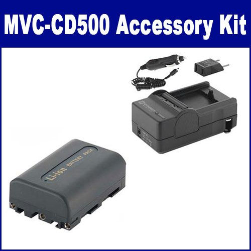 Sony MVC-CD500 Digital Camera Accessory Kit includes: SDNPFM50 Battery, SDM-101 Charger