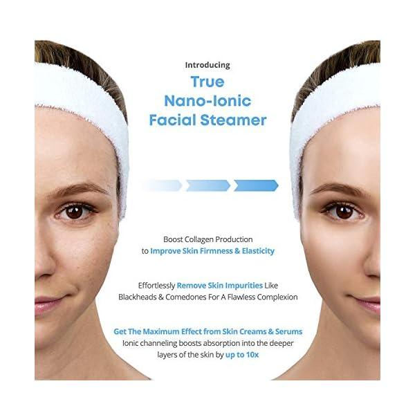 NanoSteamer PRO Professional 4-in-1 Nano Ionic Facial Steamer for Spas - 30 Min Steam Time - Humidifier - Unclogs Pores…