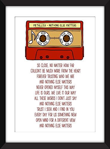 Metallica Nothing Else Matters Lyrics Unframed Print