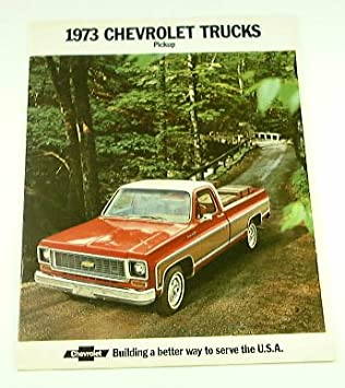 1973 Chevy Truck >> Amazon Com 1973 73 Chevrolet Chevy Pickup Truck Brochure