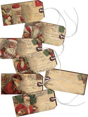 Gift Tags - Vintage Santa - 2 Sets of 6