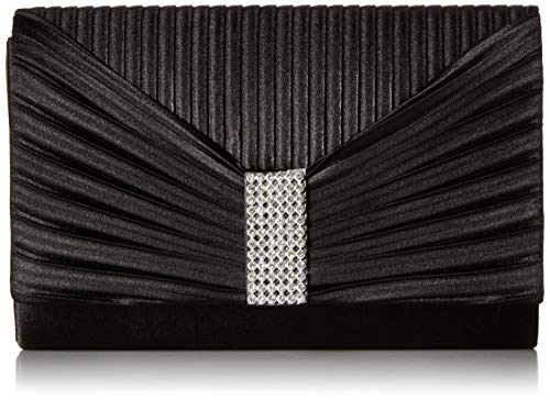 - Jessica McClintock Women's Alexis Pleated Flap with Rhinestones, Black