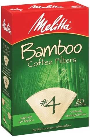Melitta 63118 #4 Bamboo Filters 80 Count