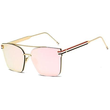 Z&YQ Gli occhiali da sole in vetro con telaio in metallo si adattano a occhiali da sole UV , blue green